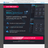 Today only USD 10 - WinOptimizer 17 from Ashampoo
