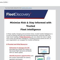 Locate Recently Stored Aircraft & Navigate the Market with Confidence