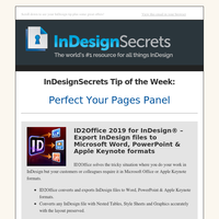Tip of the Week: Perfect Your Pages Panel
