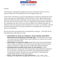 This is a long email, but I wanted to share what the Coronavirus stimulus package the Senate just passed will do for us.