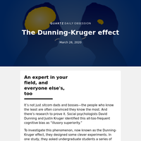 Dunning-Kruger effect: When we don't know what we don't know