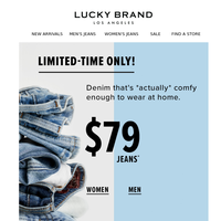 Our newest jeans are ONLY $79 😳