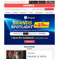 Lowest Price Guaranteed: Hourly Brand Spotlight at Shopee + Get up to 6% Cashback