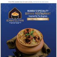 Franchise Partners invited for Mumbai's Speciality Biryani Brand with 23+ successfully running outlets