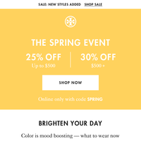 A bright idea: up to 30% off