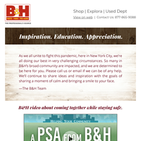 B&H Check-in 3/27:  Sharing Inspiration