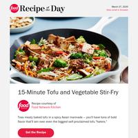 15-Minute Tofu + Vegetable Stir-Fry