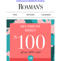 $100 gift just for you!