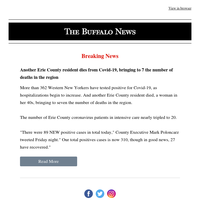BREAKING: Another Erie County resident dies from Covid-19, bringing WNY deaths so far to 7