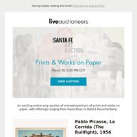 Santa Fe Art Auction   Prints & Works on Paper