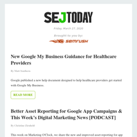 SEJ Today: New Google My Business Guidance for Healthcare Providers