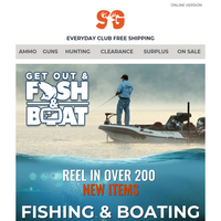 Fishing & Boating New Arrivals | Over 200 New Items In Stock