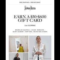 Last day: Earn a $50-$600 gift card