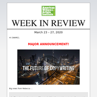 AWAI – Week in Review, Future of Copywriting Summit, Spotlight Job of the Week, and More ...