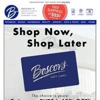 Enjoy an extra 15% OFF e-gift cards!
