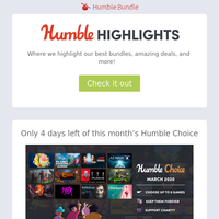 This week at Humble: We've launched our Humble Brag video series, you can get 60% off MK 11 & check out One Step from Eden!