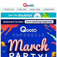 LAST DAY of Qoo10 March Super Sale! Stand a chance to win LG Smart TV, $100 Qoo10 Gift card and Armaggeddon Gaming laptop! >