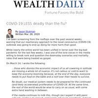 COVID-19 LESS deadly than the flu?