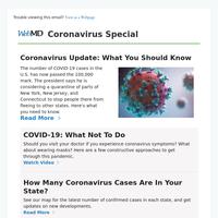 Coronavirus Update: What You Should Know