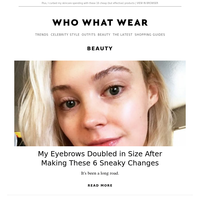 6 sneaky changes that made my eyebrows double in size