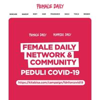 Female Daily Network & Community mengajak kamu TURUT BERAKSI dalam melawan pandemi COVID-19 ini!