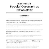 Special Coronavirus Newsletter
