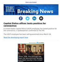 Breaking News: Exclusive – Capitol Police officer tests positive for coronavirus