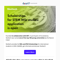 Monthly stipend and 100% Scholarships for talented students