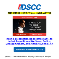 Your gift is triple-matched until Tuesday!