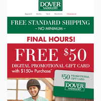 Final Hours: Receive a Free $50 Gift Card!