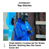 Your Top Stories: Virgil Abloh's Custom Jet for Drake Recalls 'Nothing Was the Same' Cover Art and More