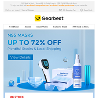 Up To 72% OFF. N95 Masks Are Plentifully Stocked in Warehouses in The US, The UK, Germany, and South Korea.