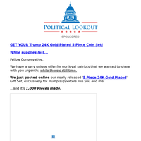 Did you see this new release? (Collectible Trump 2020 Five piece Gift Set)