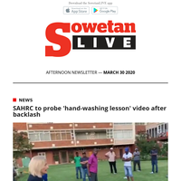 SAHRC to probe 'hand-washing lesson' video after backlash | Bloemfontein Celtic apologise for player Teboho Potsane's army uniform gaffe