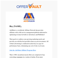 🙌 AdsMain - Your Trusted Affiliate Network ✅