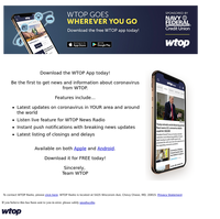 Download the WTOP App to get the latest on coronavirus 24/7