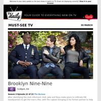 Don't miss: Brooklyn Nine-Nine at 5:00pm on E4