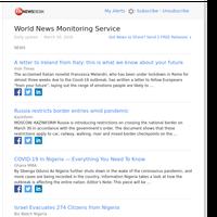 World News (Mon 30 Mar 2020)