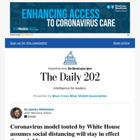 The Daily 202: Coronavirus model touted by White House assumes social distancing will stay in effect through May