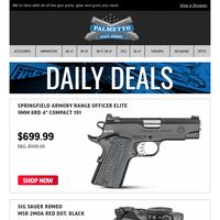 Springfield Armory 1911 Range Officer Elite 9mm Pistol $699.99 | Sig Sauer MSR Red Dot Optic $99.99 Free Shipping