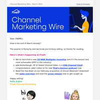 Five9 Channel Marketing Wire - March 2020