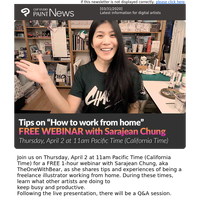 "FREE Webinar - Tips on ""How to work from home"" with TheOneWithBear (Sarajean Chung)"