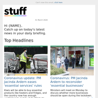 Coronavirus update: PM Jacinda Ardern eases 'essential services' rules
