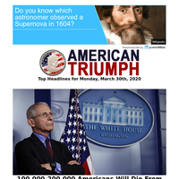 According to Dr. Fauci between 100,000 and 200,000 Americans will die...
