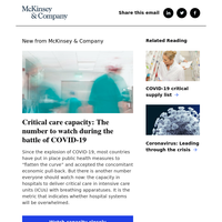 Critical care capacity: The number to watch during the battle of COVID-19