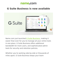 Meet G Suite Business