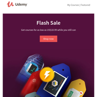 48-Hour Flash Sale: Courses from US$10.99. Ends tonight.
