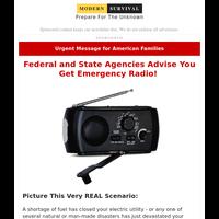Federal Authorities: You Need Emergency Radio
