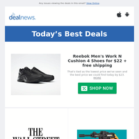 Reebok Men's Work N Cushion 4 Shoes for $22 | Wall Street Journal Digital 2-Month Subscription for $1 | Up to 70% off Refurb Worx items at eBay