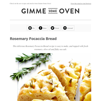 New Post: Rosemary Focaccia Bread